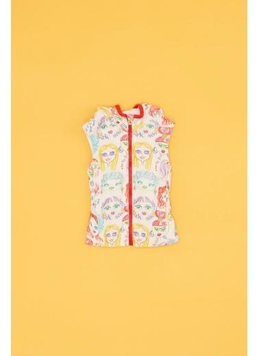 BG Baby Kız Bebek Desenli Yelek Renkli